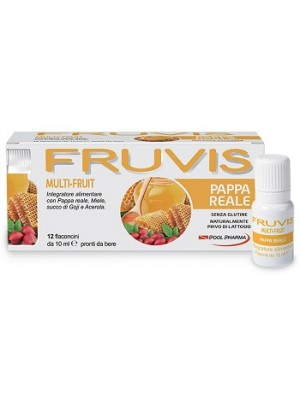 FRUVIS MULTI-FRUIT PAPPA REALE 12 FLACONCINI DA 10 ML