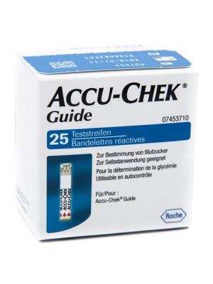 ACCU-CHEK GUIDE 25 STRIPS RETAIL STRISCE PER LA MISURAZIONE DELLA GLICEMIA ACCU-CHEK GUIDE 25 PEZZI COD RETAIL