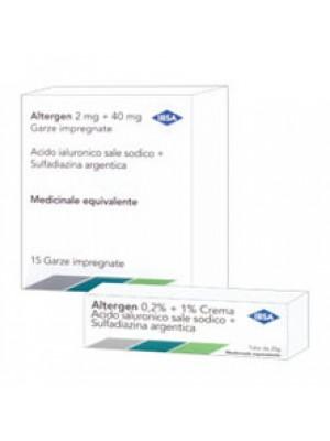 ALTERGEN*15 garze 2 mg + 40 mg 10 cm x 10 cm