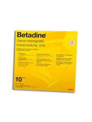BETADINE*10 garze 10 cm x 10 cm 250 mg