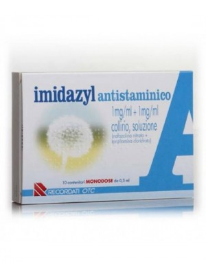 IMIDAZYL ANTISTAMINICO*10 monod collirio 0,5 ml 1 mg/ml + 1mg/ml