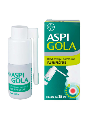 ASPI GOLA*spray mucosa orale 15 ml 0,25%